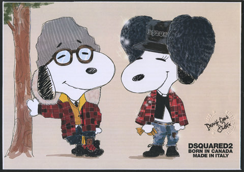 Snoopy and Belle in Fashion by Dsquared2