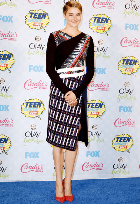 Shailene Woodley in Peter Pilotto at Teen Choice Awards