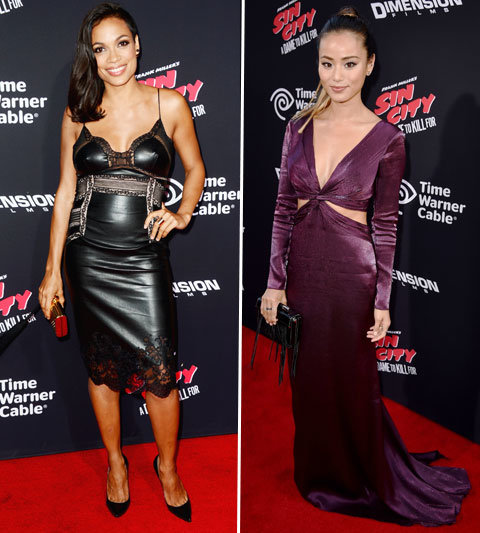 Rosario Dawson and Jamie Chung at Sin City Premiere