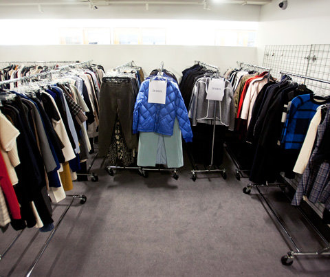 working racks of clothes at InStyle