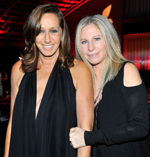 Donna Karan & Barbra Streisand at PSLA Autumn Party