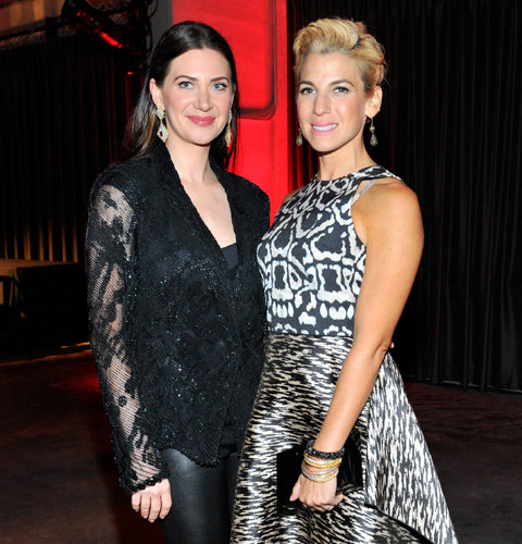 Rochelle Gores Fredston & Jessica Seinfeld at PSLA Autumn Party