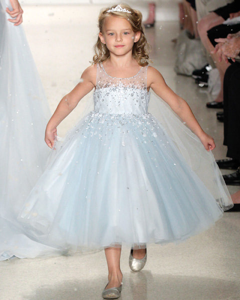 Disney Elsa Frozen Wedding Dress Flower Girls