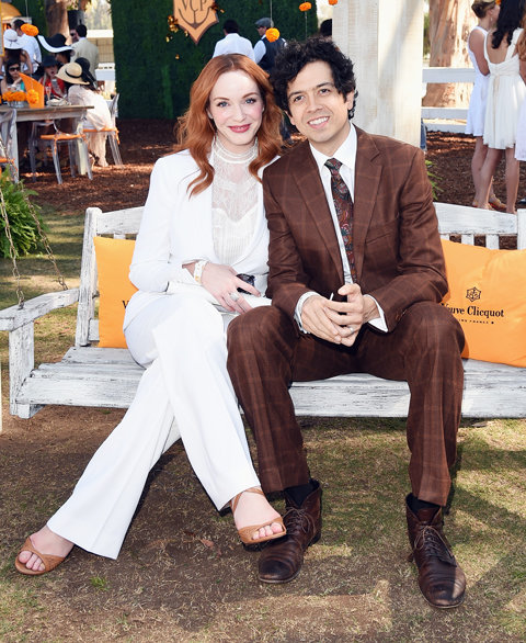 Christina Hendricks and Geoffrey Arend at Veuve Clicquot Polo Classic