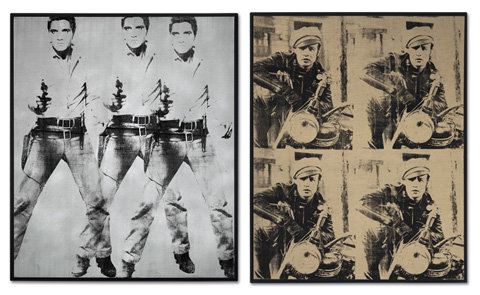 Andy Warhol 'Triple Elvis' and 'Four Brandos'