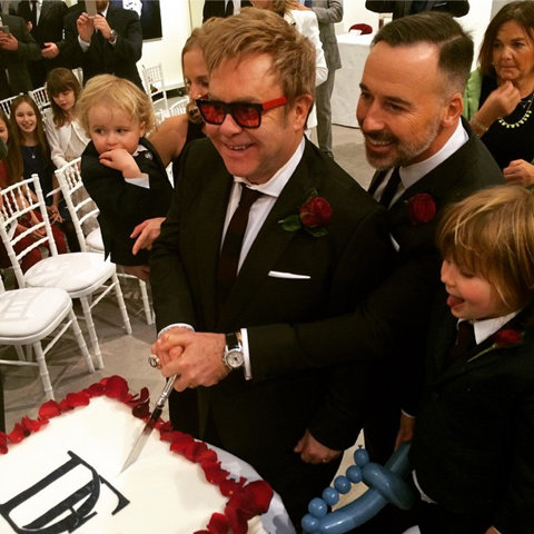 Elton John and David Furnish Wedding