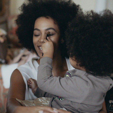 Blue Ivy and Solange