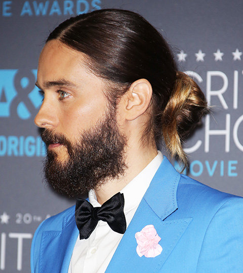 Jared Leto's man bun from the 2015 Critics' Choice Awards