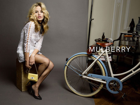 Georgia May Jagger in Mulberry Spring Campaign