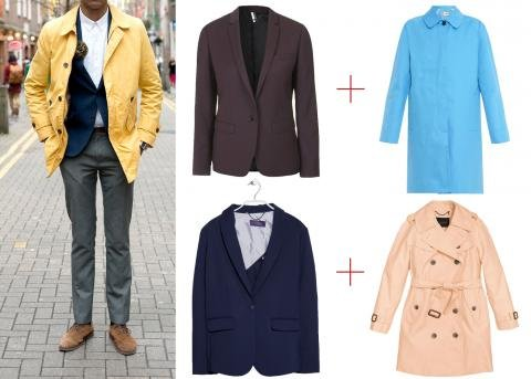 Layer with a Colored Trench