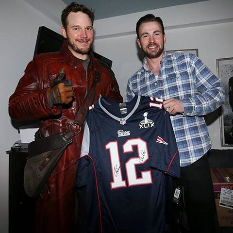 Chris Pratt and Chris Evans Super Bowl Bet
