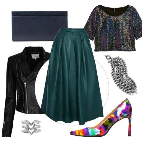 Leather Midi Skirt Outfit