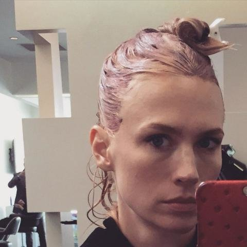 January Jones Pink Hair