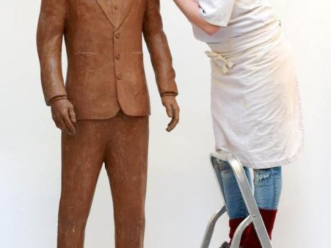 Benedict Cumberbatch Chocolate Statue