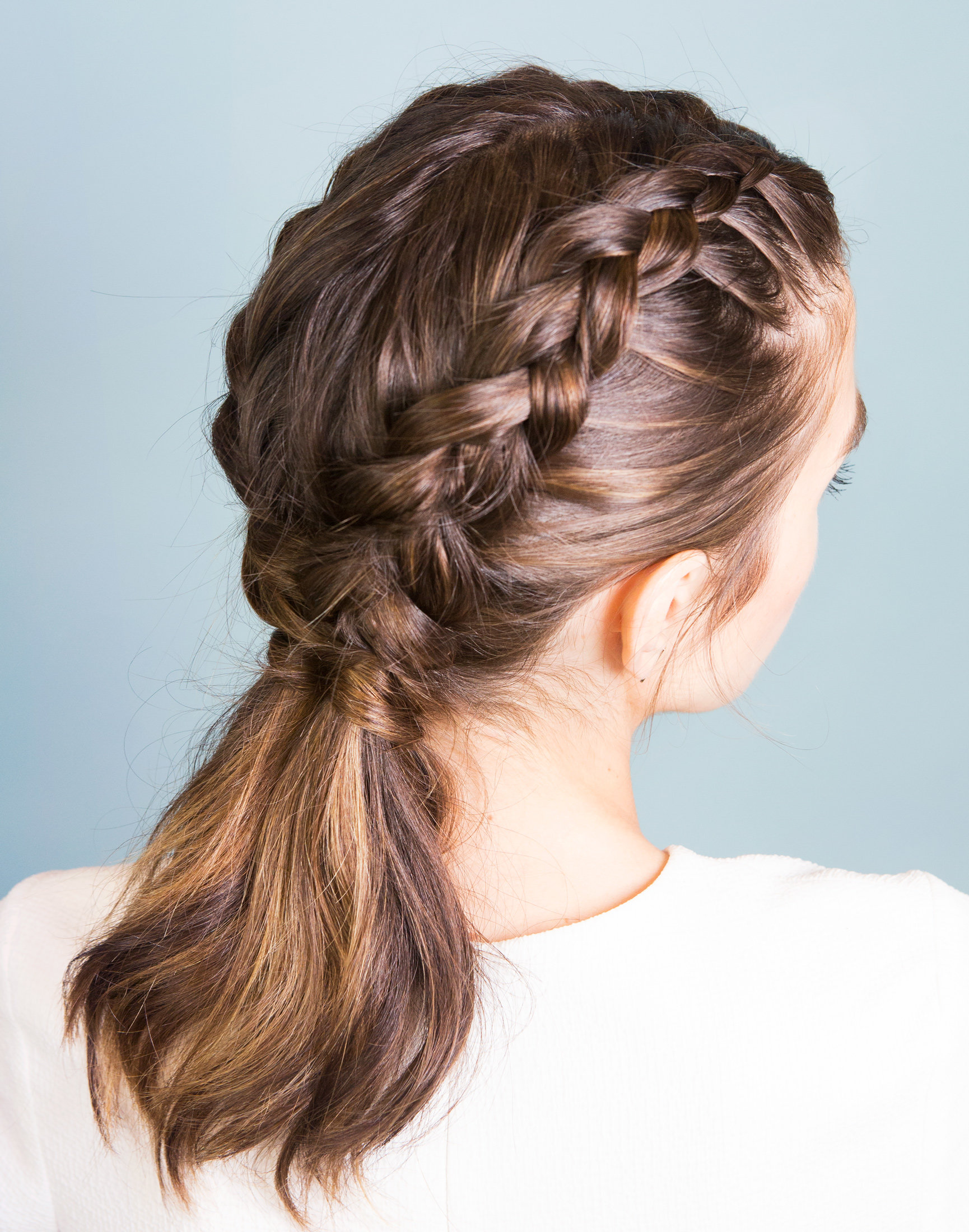 Learn How To Perfect Inverted French Braids With This Stepbystep Gif