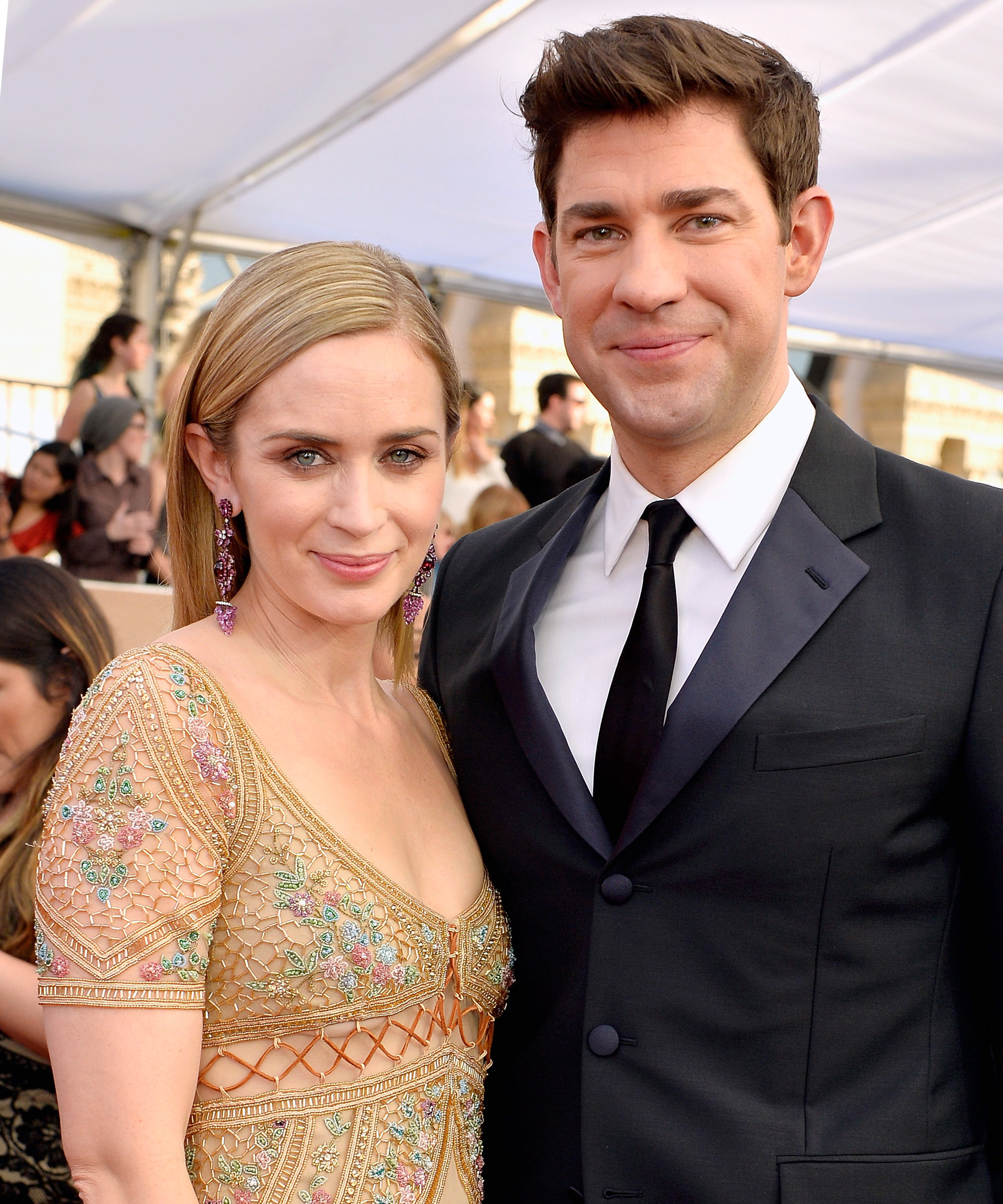 emily blunt and john krasinski star in first feature film together