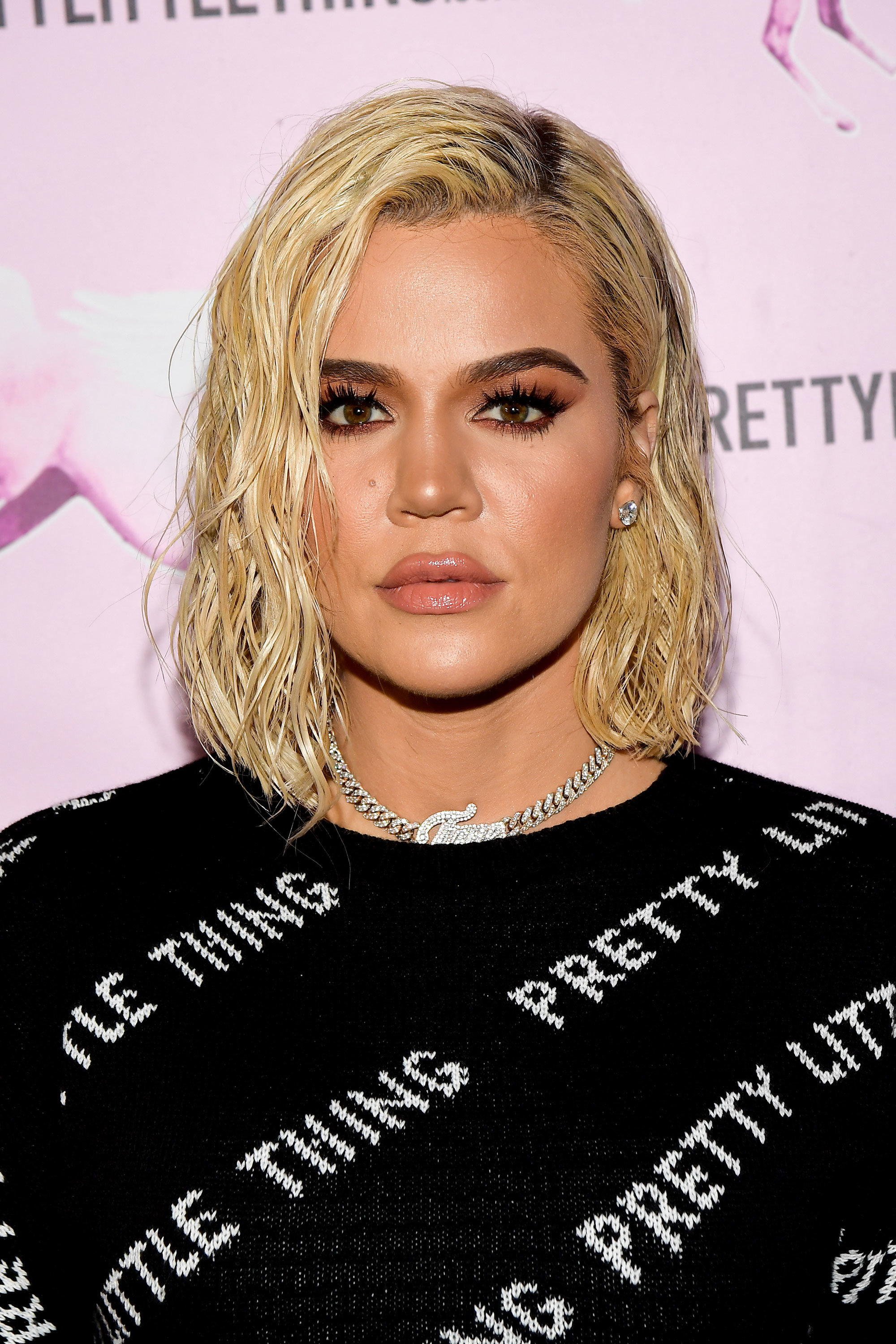 Khloé Kardashian's New Hair Color Is So Blonde It's Almost White @InStyle