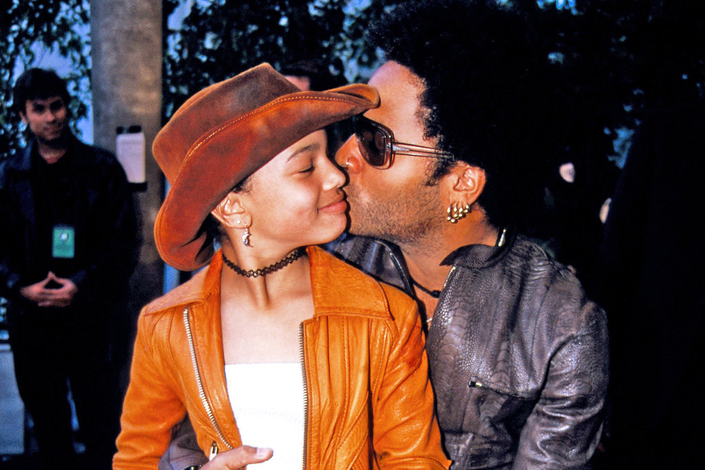 Lenny Kravitz Celebrated Zoë Kravitz's Birthday with the Cutest Father-Daughter Throwback Photo